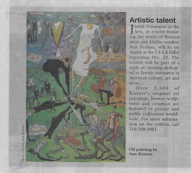 Artistic Talent - The Malibu Times